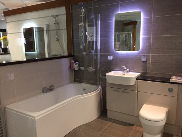 bathroom on display in our showroom in Preston
