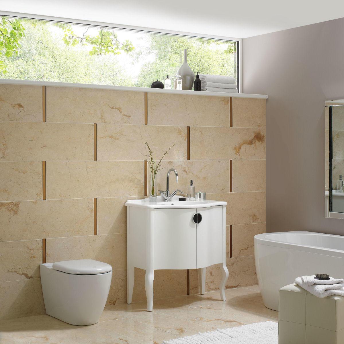 Cream bathroom vanity amazing bathroom vanity images for Cream and black bathroom ideas