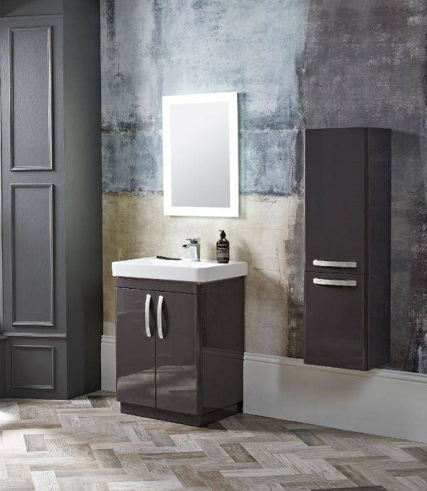 Ceramic basin with large deep bowl area complete with soft close 2 door unit
