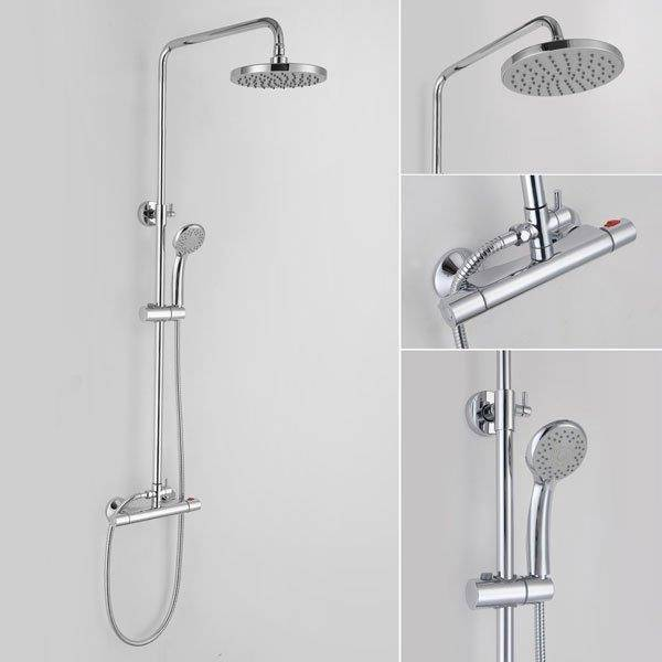 Rondi Thermostatic Dual Head Bar Shower Homematas