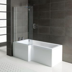 L shaped shower bath offer