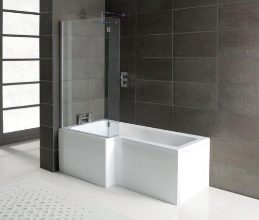 L shaped shower bath offer