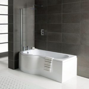 P shaped shower bath offer