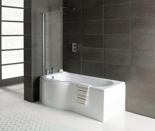 P shaped shower bath offer